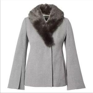 Banana Republic NWT Fur Collar Cape Jacket
